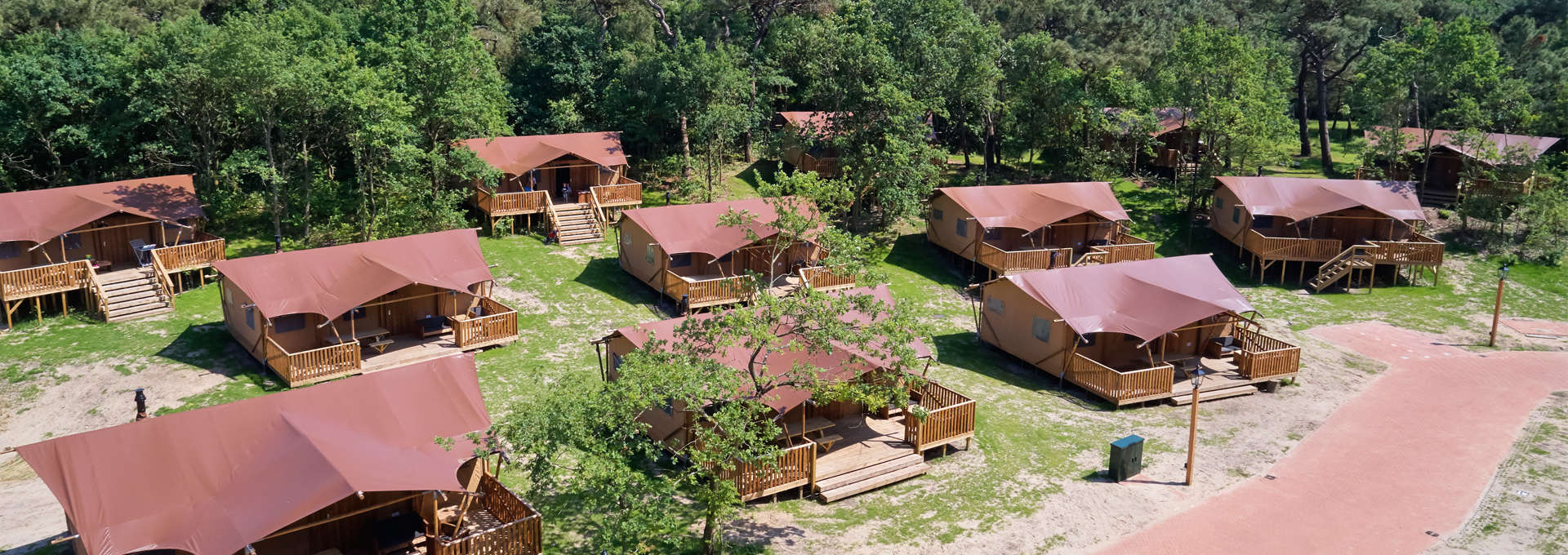 Lodge tents & Lodge tents - Luxury camping at Holiday Park Duinrell