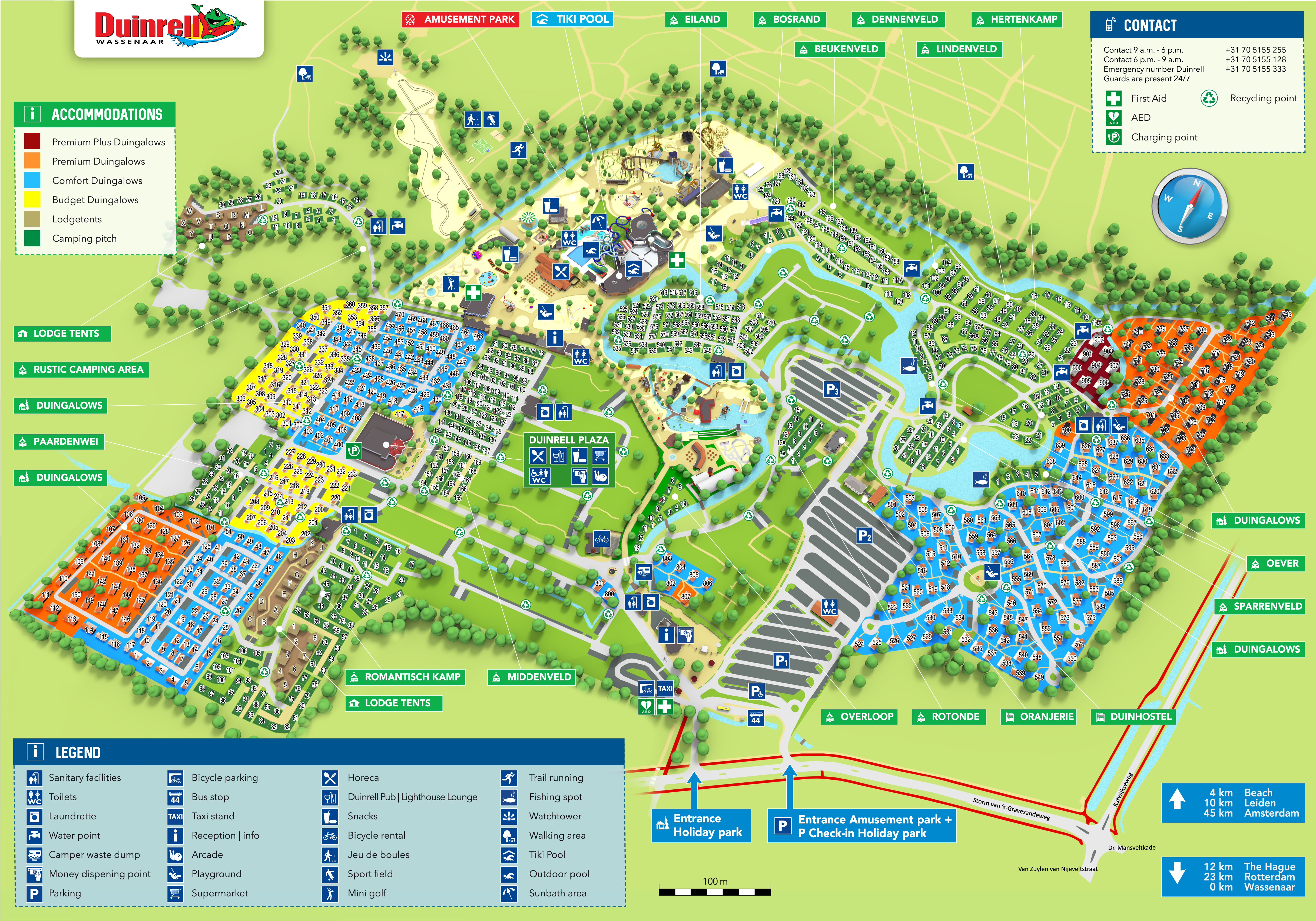 Map of Duinrell Holiday Park