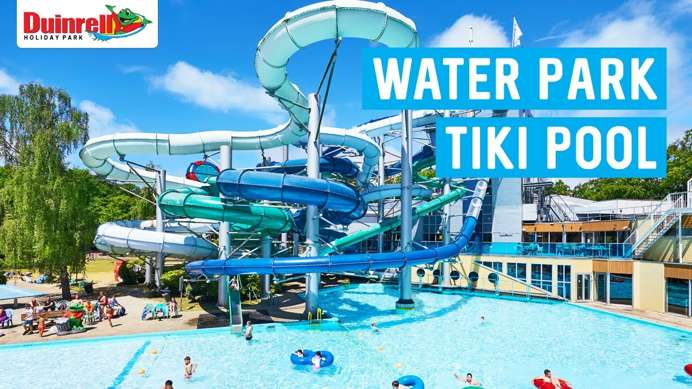 Water park tiki pool endless aquatic fun at duinrell holland - Campsites in holland with swimming pool ...